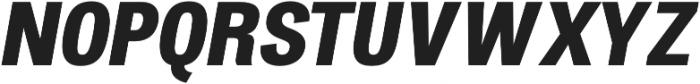 Atiga ExtraBold Italic otf (700) Font UPPERCASE