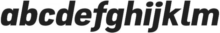 Atiga ExtraBold Italic otf (700) Font LOWERCASE
