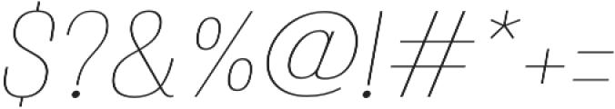 Atiga Thin Italic otf (100) Font OTHER CHARS