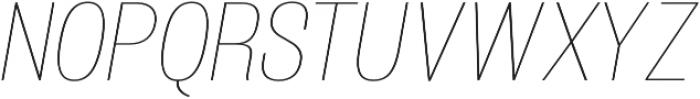 Atiga Thin Italic otf (100) Font UPPERCASE