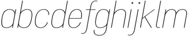 Atiga Thin Italic otf (100) Font LOWERCASE
