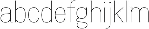 Atiga Thin otf (100) Font LOWERCASE