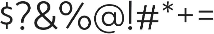 Atlan Light otf (300) Font OTHER CHARS
