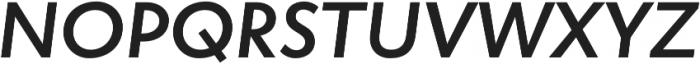 Atlan Semi Bold It otf (600) Font UPPERCASE