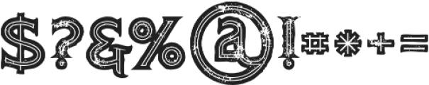 Atlantis Bold Inline Grunge otf (700) Font OTHER CHARS