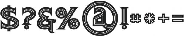 Atlantis Bold Inline otf (700) Font OTHER CHARS