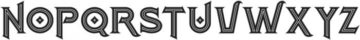 Atlantis Bold Inline otf (700) Font UPPERCASE