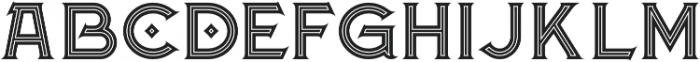 Atlantis Inline otf (400) Font LOWERCASE