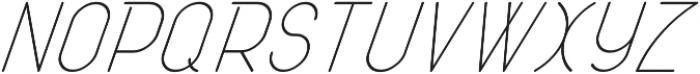 Atlas Italic otf (400) Font UPPERCASE