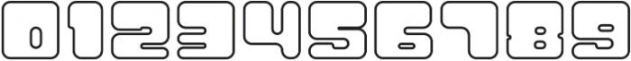 Atomic Blip Outline otf (400) Font OTHER CHARS