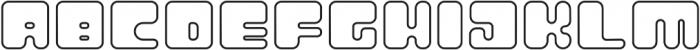 Atomic Blip Outline otf (400) Font LOWERCASE
