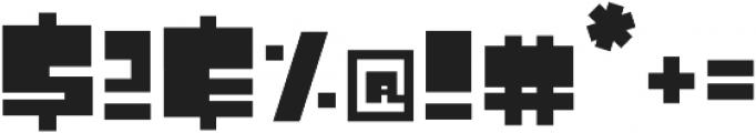 Atomic Blip Square otf (400) Font OTHER CHARS