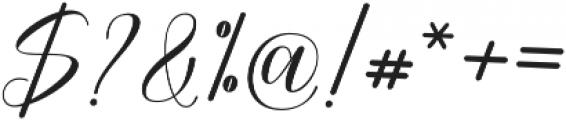 Attention Script Bold Regular otf (700) Font OTHER CHARS