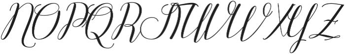 Attention Script Bold Regular otf (700) Font UPPERCASE