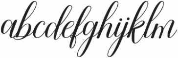 Attention Script Bold Regular otf (700) Font LOWERCASE