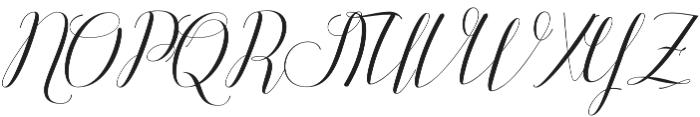 Attention Script Regular otf (400) Font UPPERCASE
