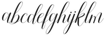 Attention Script Regular otf (400) Font LOWERCASE