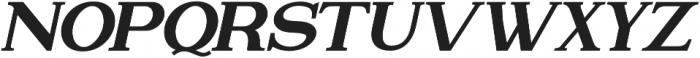 Attention Serif Slant Bold otf (700) Font UPPERCASE