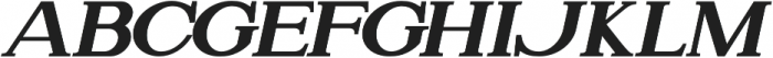 Attention Serif Slant Bold otf (700) Font LOWERCASE