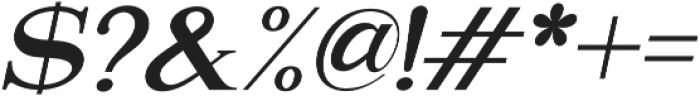 Attention Serif Slant otf (400) Font OTHER CHARS