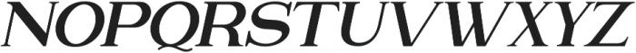 Attention Serif Slant otf (400) Font UPPERCASE