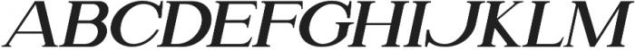Attention Serif Slant otf (400) Font LOWERCASE