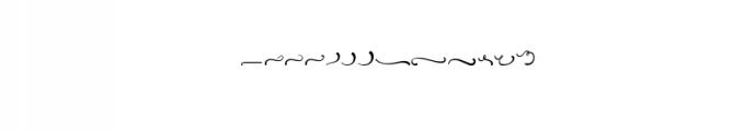 Atlantis Heart Font LOWERCASE