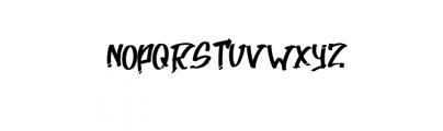 AtteThi.ttf Font UPPERCASE