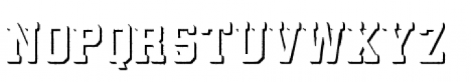 Athletico Shadow Font LOWERCASE