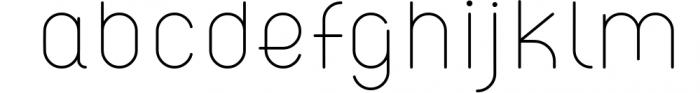 ATLAS clean modern sans typeface. Font LOWERCASE
