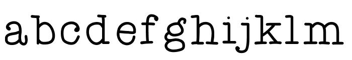 ATypewriterForMe Font LOWERCASE