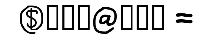 AtSign-Regular Font OTHER CHARS