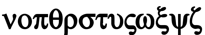 Atene-Bold Font LOWERCASE