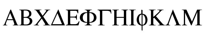 Atene-Normal Font UPPERCASE