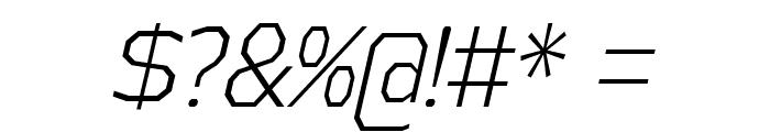 AthabascaCdLt-Italic Font OTHER CHARS
