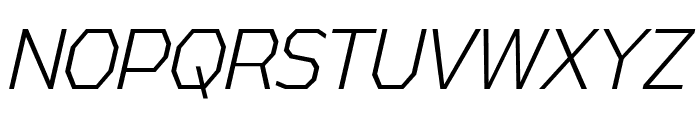AthabascaCdLt-Italic Font UPPERCASE