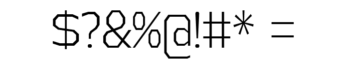 AthabascaCdLt-Regular Font OTHER CHARS