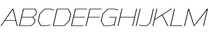 AthabascaEl-Italic Font UPPERCASE