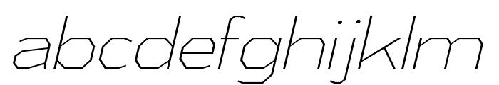 AthabascaEl-Italic Font LOWERCASE