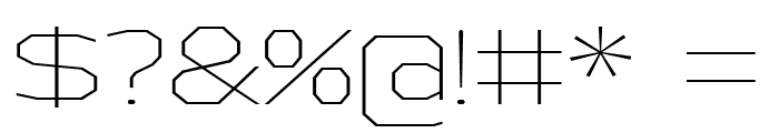 AthabascaExEl-Regular Font OTHER CHARS