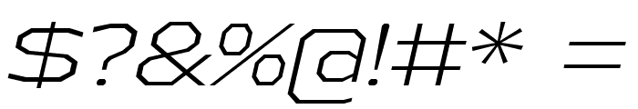AthabascaExLt-Italic Font OTHER CHARS