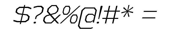AthabascaLt-Italic Font OTHER CHARS