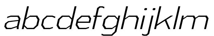 AthabascaLt-Italic Font LOWERCASE