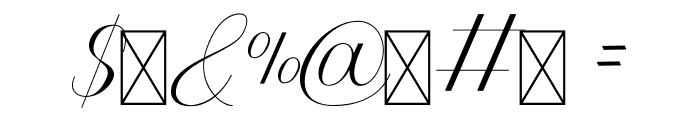Athenia Font OTHER CHARS