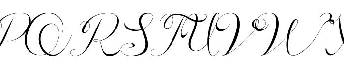 Athenia Font UPPERCASE