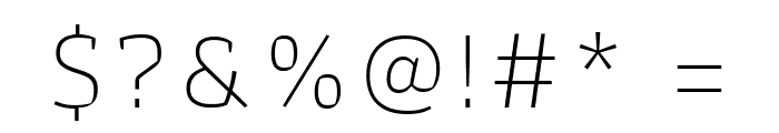 Athiti ExtraLight Font OTHER CHARS