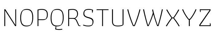 Athiti ExtraLight Font UPPERCASE