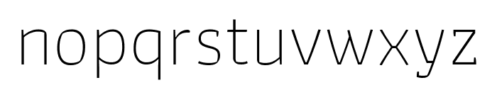 Athiti ExtraLight Font LOWERCASE