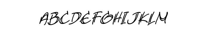 AtlandSketchesBB-Italic Font LOWERCASE