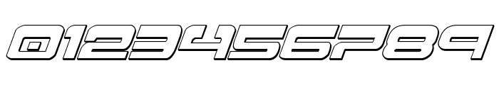 Atlantia 3D Italic Font OTHER CHARS